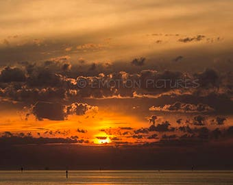 Golden Clouds over Bay