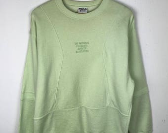 Rare!!! Vintage!!! NCAA x Descente Sweatshirt Pullover Spellout Embroidery Jumper