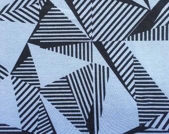 Blue Geometric - cotton jersey