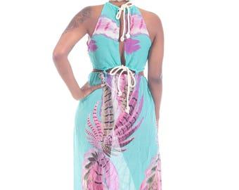 Turquoise Rope Maxi Dress