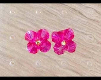Swarovski Crystal rose Stud Earrings