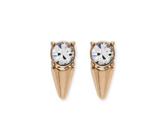 Crystal Spike Stud Earrings