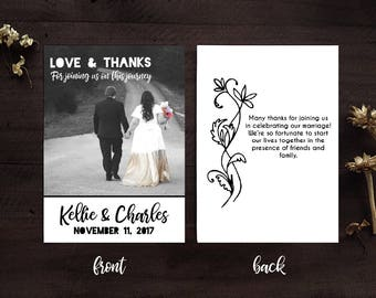Wedding thank you cards, wedding thank you notes, photo thank you cards, wedding thank you cards with photo, photo thank you cards wedding