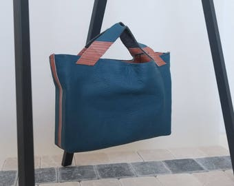 COUCH TO BAG re-used leather tote