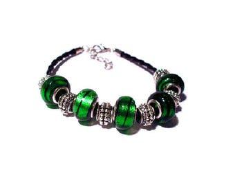 Bracelet beads European Green European beads