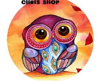 18mm, small OWL orange background