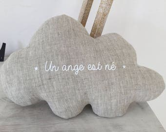 Linen cloud cushion