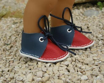 Blue and red shoes for Wichtel dolls