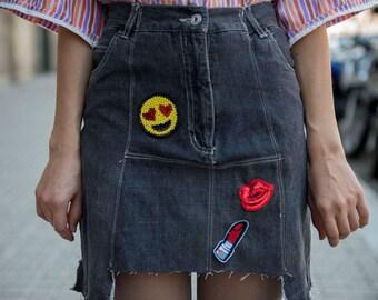 Hongdae Vibes Short Denim Skirt