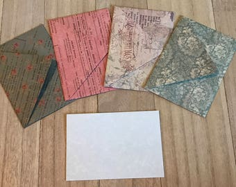 Vintage theme lined envelopes with notecards