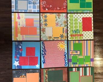 12 Seasonal scrapbook pages