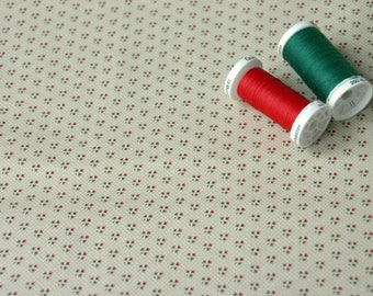 Small red and green graphic patchwork fabric
