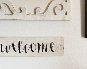 "Hand-Painted ""Welcome"" Sign"