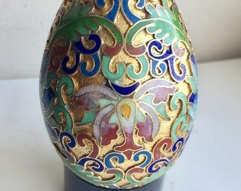 Cloisonné Egg & Plastic Stand