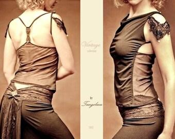 Vintage top, artistique fashion by Tangolace