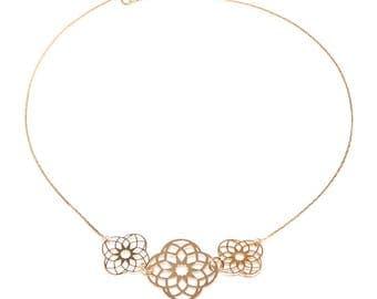 Jewelry necklace, fantasy big rose