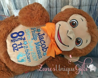 Personalised Teddy Bear / Personalised Toy / Teddy bear For Baby / Cubbies /  Embroidered Baby Teddy / New Baby Gift / Personalised Gifts