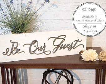 Be Our Guest Wood Sign Bedroom Rustic Wall Decor