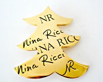 Vintage Nina Ricci Christmas tree Brooch