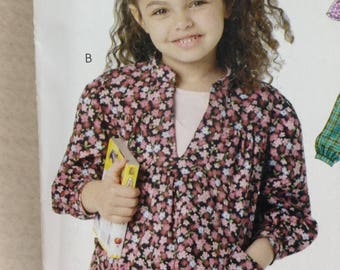 Stitch n Save M6144 Sewing Pattern, Girls Top, Girls Dress, Size 7 - 14, OOP