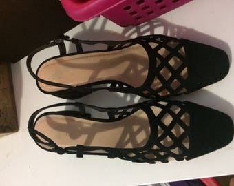 Openwork Slingback High Hell Shoes