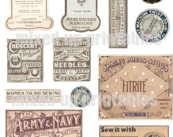 Mixed Up Printables - Sewing Ephemera #1
