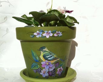 "Flower pots ""Birds"""