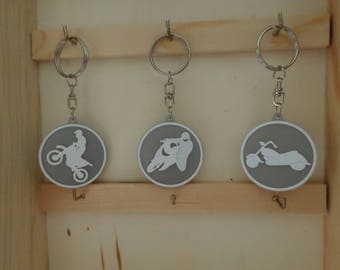 Motorcycle key chain (your choice: cross, sport or custom)
