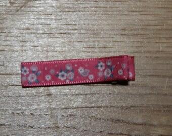 Anti-slip barrette hair clip pink flower Barrette anti gliss