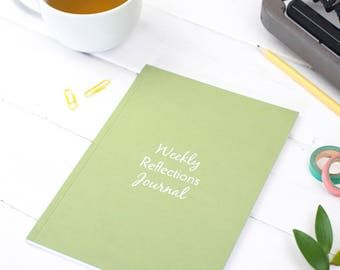 Reflections Journal – Gratitude Journal – Weekly Reflections Journal – Gratitude Notebook – Happiness Diary – Year Long Notepad