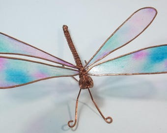 Dragonfly: Copper wire and paper drgaonfly