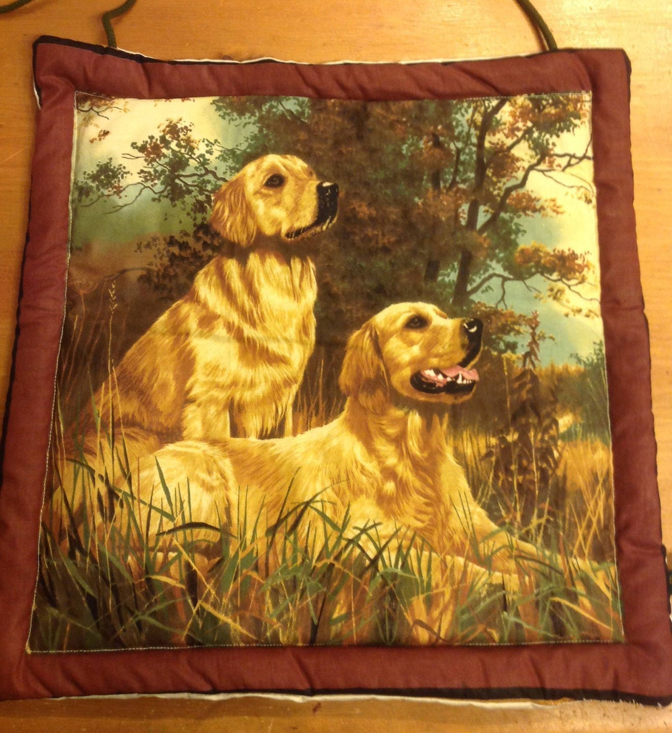 Wall hanging dogs fabric - perfect for home decor ...