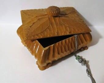 Vintage Scandinavian wooden box