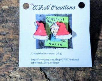 Santa hat/santa/earrings/Christmas