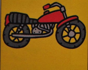 "Kit canvas kids ""bike"" large holes books Luke creations ks20/06"