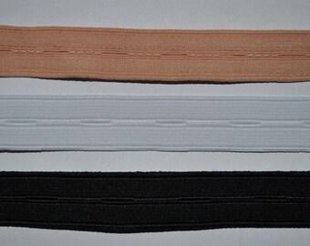 20mm wide buttonhole elastic / per meter / flesh color