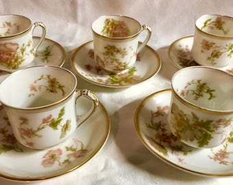 Antique Limoge Springtime Tea Set - Haviland & Co