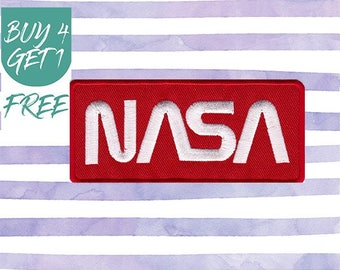 NASA Logo Patch Mission Patches Iron On Patch Embroidered Patch Rocket Space