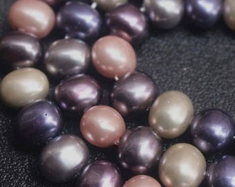 Multicolor Pea South Sea Shell Pearls beads,Rondelle beads,15'' per strand