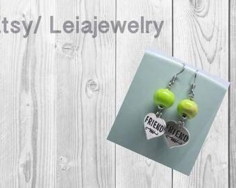 Green Apples Impression Jasper Earrings