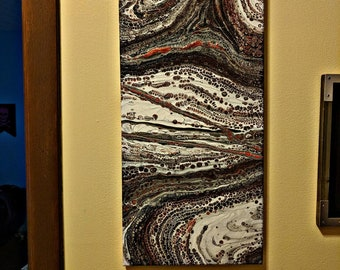 Fluid Art 10 x 20 Canvas