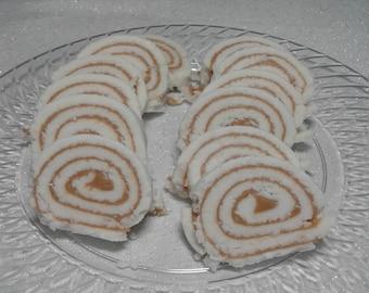 Homemade peanut butter roll  (potato candy)
