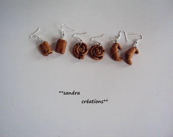 Choose pastry earrings