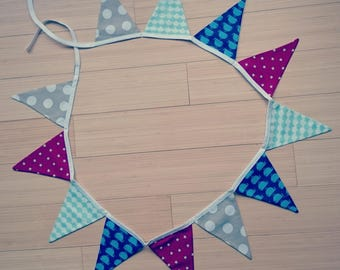 """12 Bunting """"whales in the stars"""""""