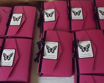 1 x Pocketfold sample Wedding Invitations Ribbon & Butterfly