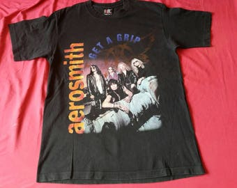 RARE Vintage 90's Aerosmith Get A Grip Album 1994 rock T-Shirt