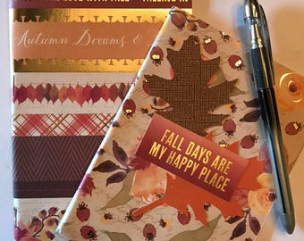 """Set of Traveler's Notebooks A6 & Mirco (Nano) Inserts """" Fall and Thanksgiving"""", Journaling,"""