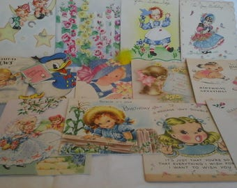 Vintage  to young lady birthday  cards #3