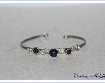 Bracelet natural stones: Lapis lazuli