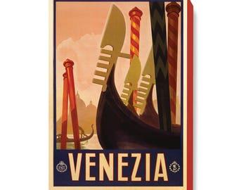 Vintage Travel Poster Art Venezia (Venice) Italy